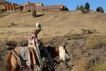 It was a somber goodbye to Kah-Nee-Ta for many. A youngwoman in traditional regalia marched on horseback to the final Saturday salmon bake with traditional dancing.